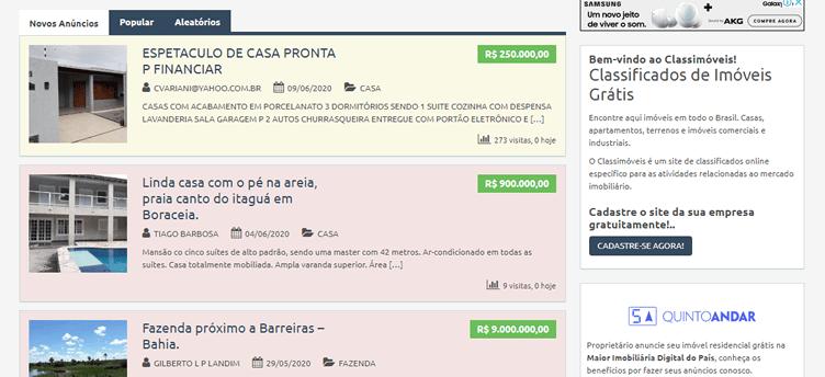 Anunciar Imóveis Grátis - Class Imóveis Brasil