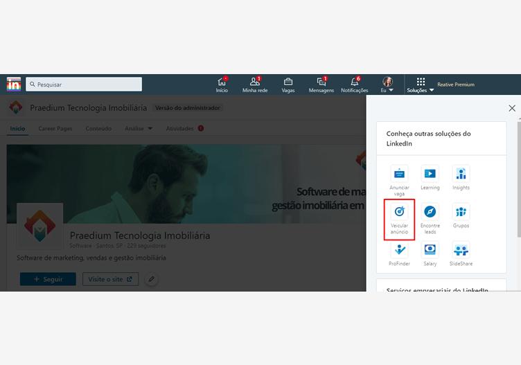 como corretor de imóveis pode anunciar no linkedin
