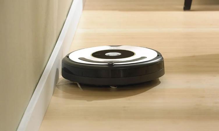 aspirador de pó robô para casas inteligentes.