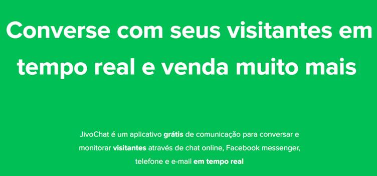 JivoChat - Chatbot gratuito para imobiliárias
