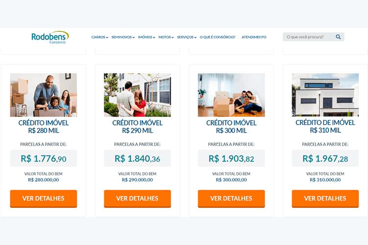 simulador de consórcio imobiliário da Rodobens