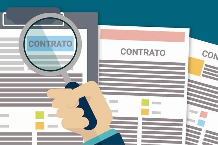 Ilustração com 3 tipos de contrato de aluguel diferentes.