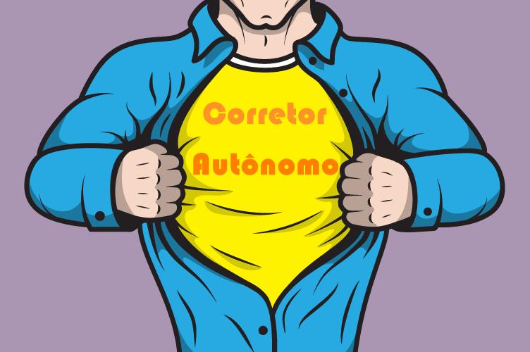 Corretor autônomo como um super herói oculto. Se revelando no marketing pessoal