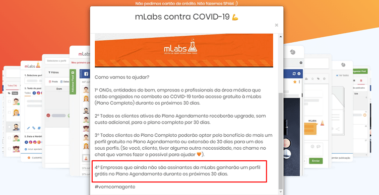 corretores de imóveis na quarentena podem agendar publicações nas redes sociais com a Mlabs