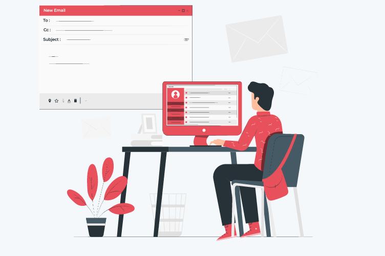 Corretor de imóveis usando as melhores dicas para escrever e-mail marketing imobiliário.