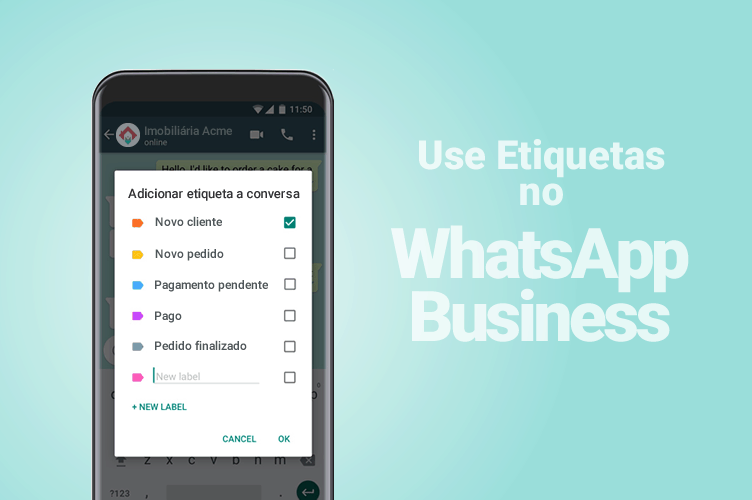Etiquetas no WhatsApp Business