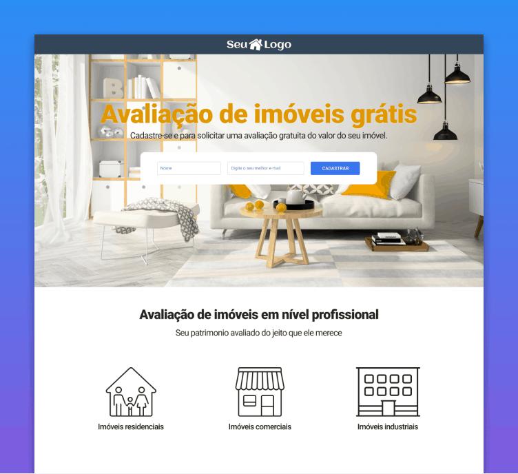 Landing Page de Avaliação de Imóveis