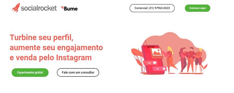 Social Rocket como ferramenta para o corretor de imóveis utilizar no Instagram.