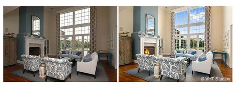 Fotografia imobiliária perfeita, mostrando o antes e o depois para fotos que são tiradas de telefones.