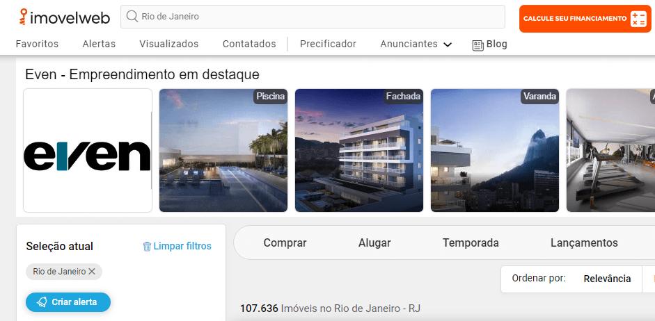 Sites de anúncio de imóveis no Rio de Janeiro