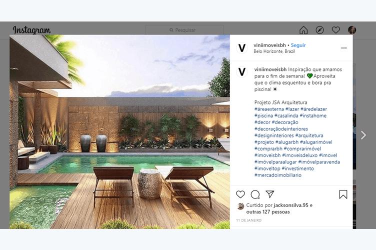 Exemplo de descrição criativa de anúncio no instagram
