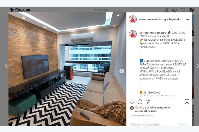 Instagram para corretor de imóveis com exemplo de conteúdo para descrição