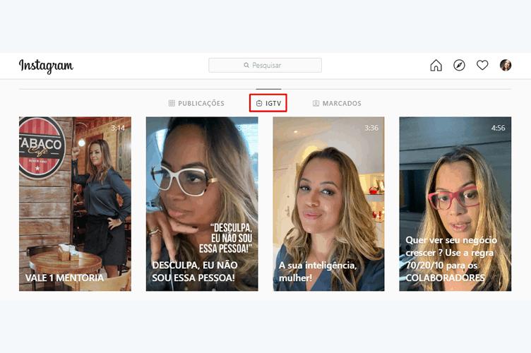 Instagram da Investidora Anjo Camila Farani - Como utilizar o IGTV