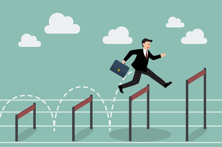 Corretor em uma corrida de obstáculos para aumentar a performance através da inteligencia emocional.