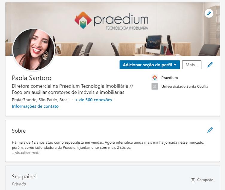 Linkedin para corretores de imóveis - perfil profissional