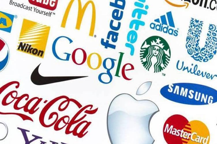 Quadro com diversas marcas como Google, Nike, Samsung, Coca cola e etc