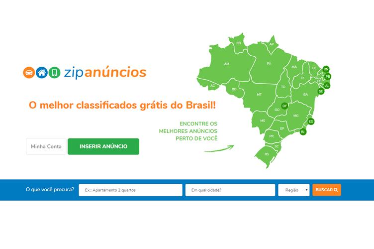 Página Inicial do ZIP Anúncios. Para corretores conseguir anunciar seus imóveis grátis na internet.