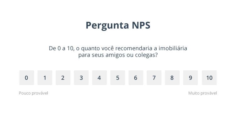 Pergunta do Net Promoter Score