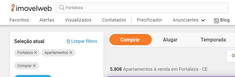 Site de anúncio de imóveis em Fortaleza