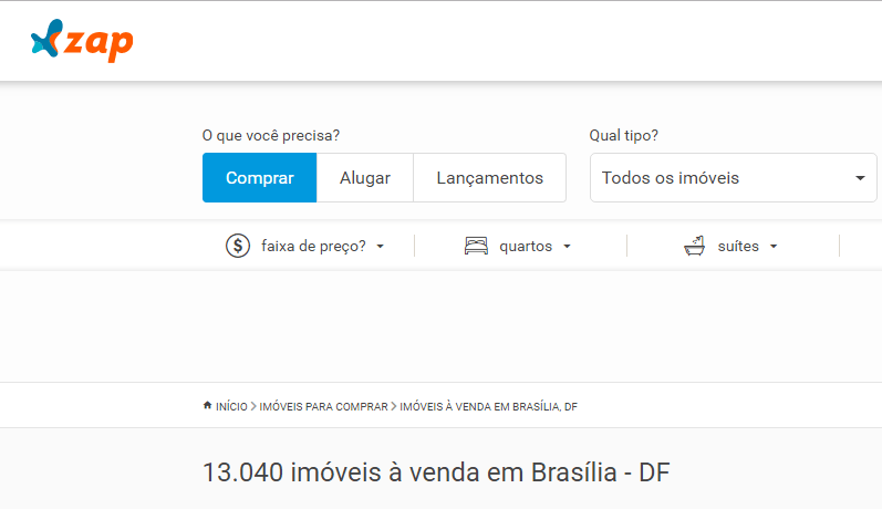 Sites de anúncio de imóveis em Brasília