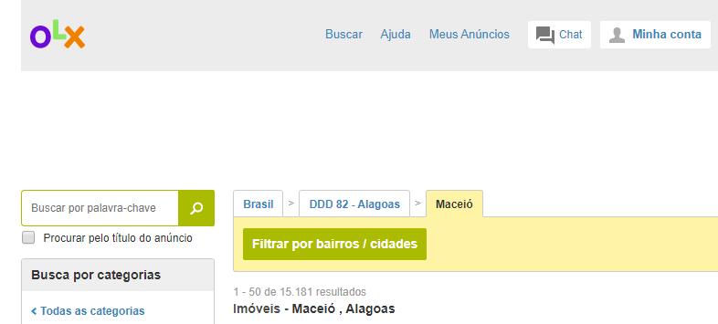 Sites de anúncio de imóveis em Maceió - OLX