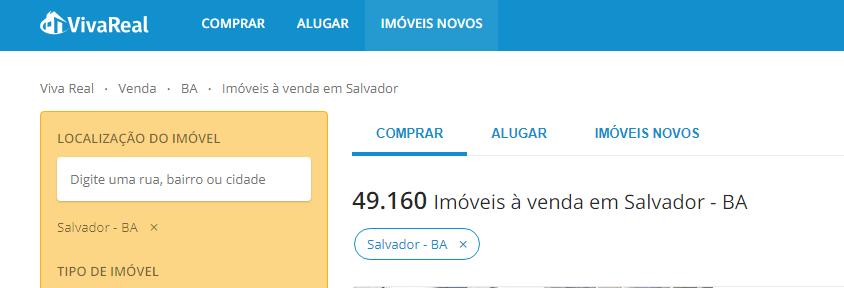 Sites de anúncio de imóveis em Salvador - Viva Real