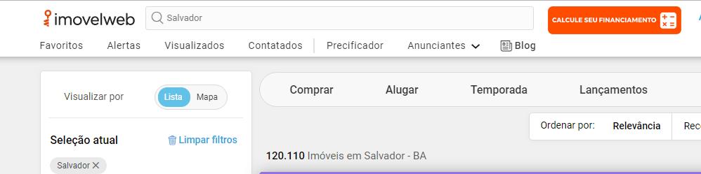 Sites de anúncio de imóveis em Salvador - Imóvel Web