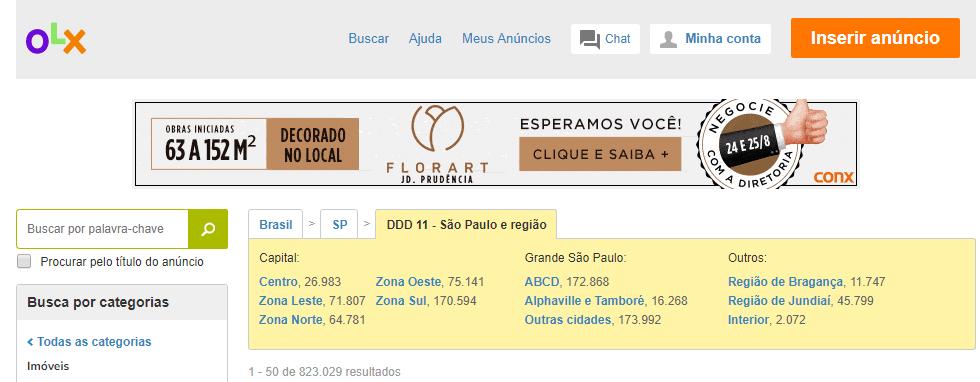 Sites para anúncios de imóveis em São Paulo - OLX