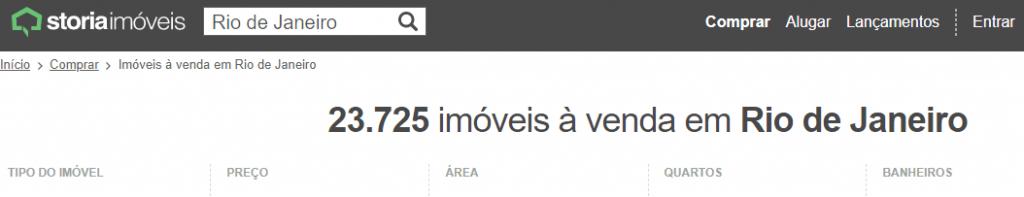Sites de anúncio de imóveis no Rio de Janeiro - Storia Imóveis