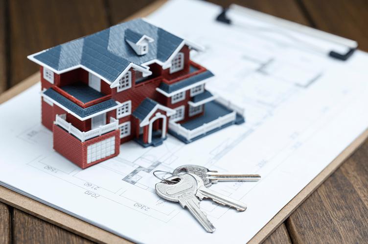 casa com chaves para a venda de imóveis