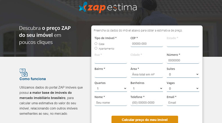 Sites do Grupo Zap: Zap Estima